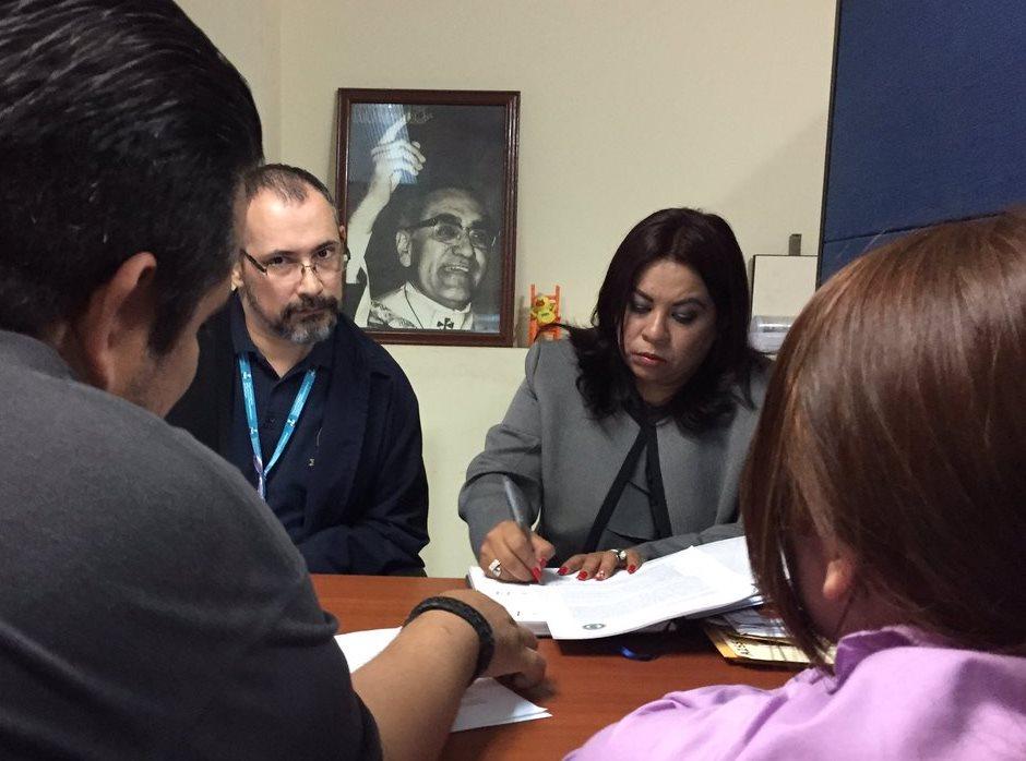 Procuradora Adjunta Mireya Tobar recibe al Sindicato de Trabajadores de CONAMYPE-SITCO