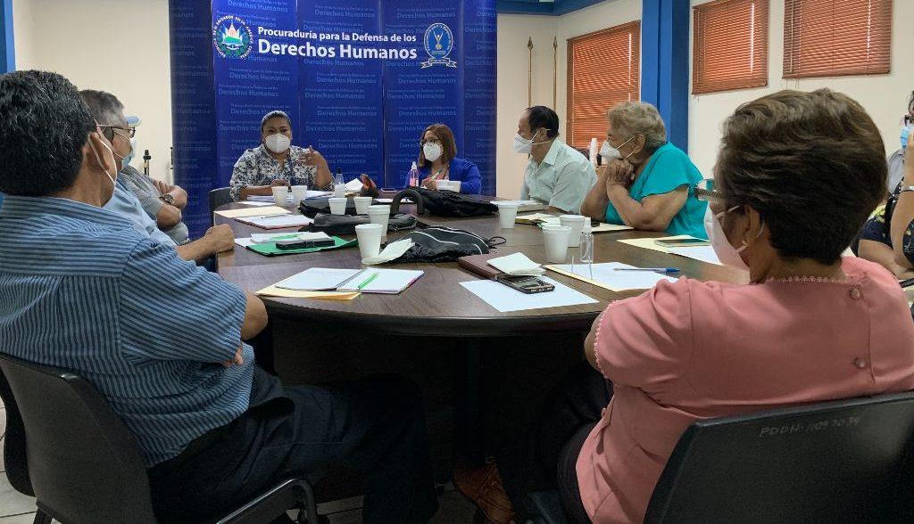 Mesa de Personas Adultas Mayores de la PDDH retoma reuniones presenciales