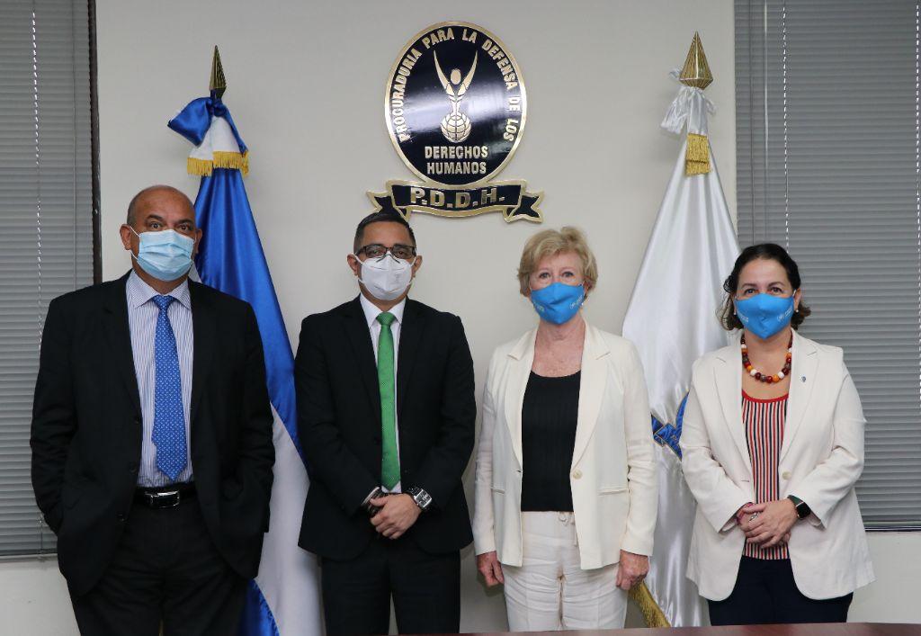 Procurador sostiene reunión con Alta Comisionada Auxiliar para la Protección de ACNUR