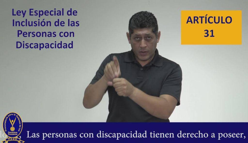 articulo 31 ley de inclusión de personas con discapacidad