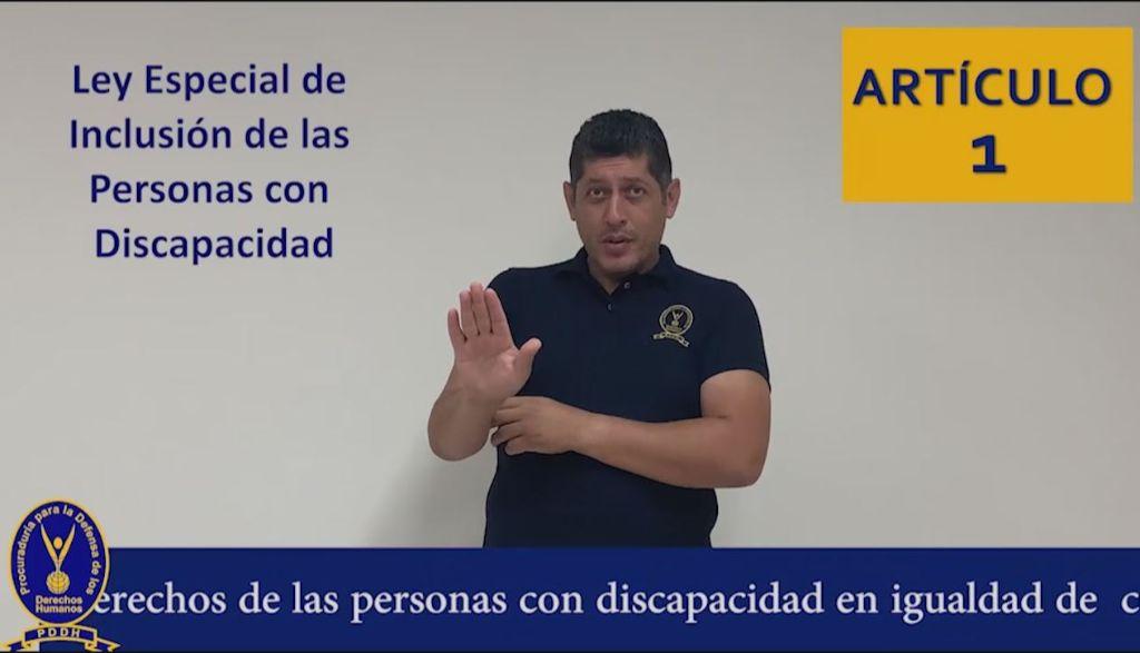 articulo 1 ley de inclusion de personas con discapacidad