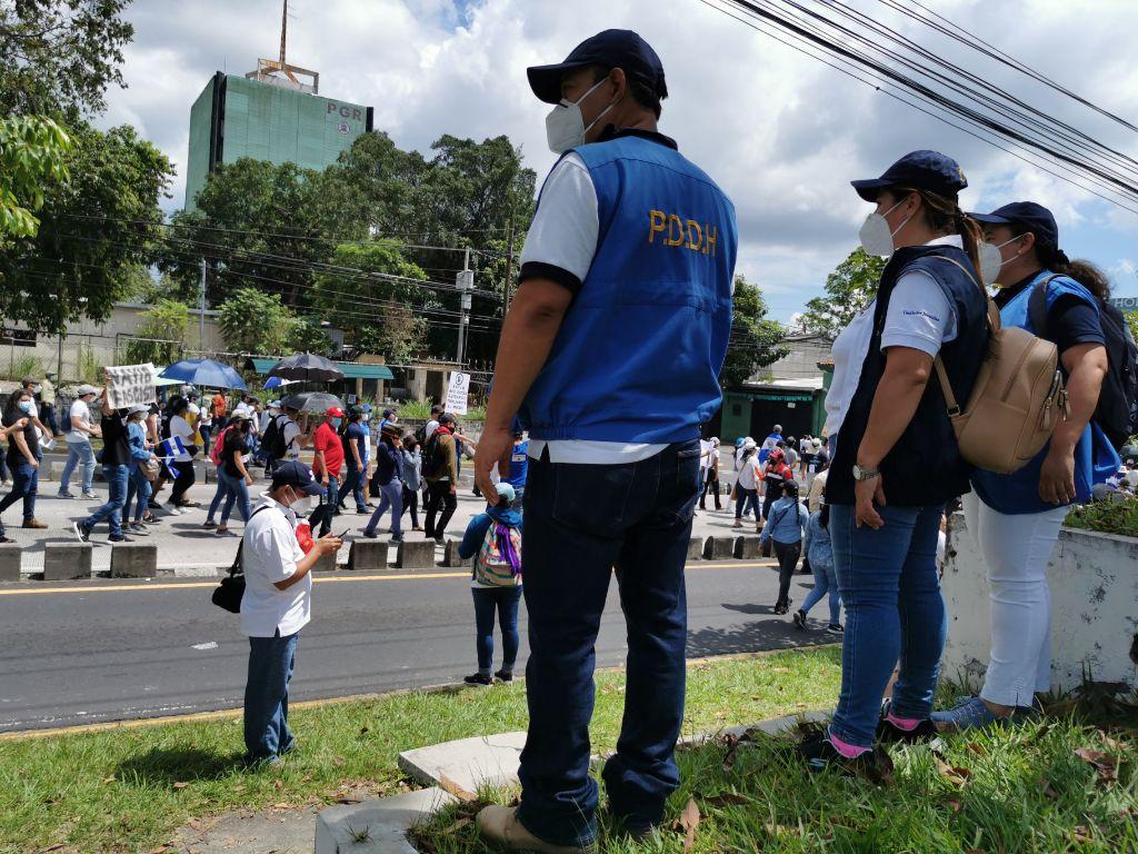 PDDH verificó manifestaciones públicas desarrolladas el 15 de septiembre